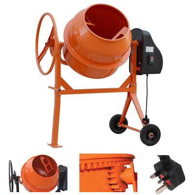 Electric Cement Mixer Portable Concrete Mortar Mixing Machine 120L 140L Drum UK