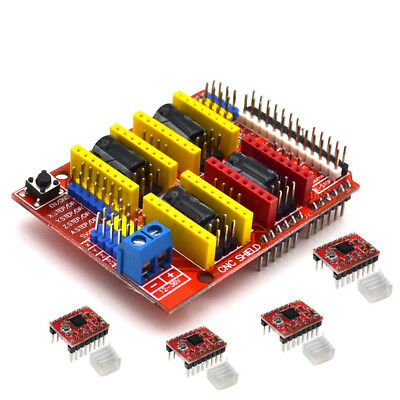 Cnc Shield Board A4988 Stepper Motor Driver For Arduino V3 Engraver 3d Printer