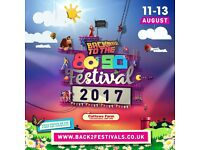 Back to the 80's / 90's Festival tickets x 2