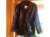 Men's leather jacket, as new