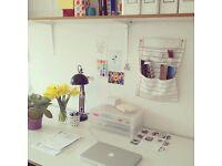 Big Desk in Friendly Sunny Studio - Stoke Newington / Dalston / Hackney