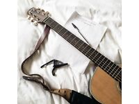 Experienced & friendly singer/songwriter offering songwriting tuition in Surrey/London