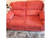2 x 2 Seater Red Sofa's