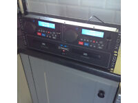 Citronic CD1X 2 disc cd changer and control unit.