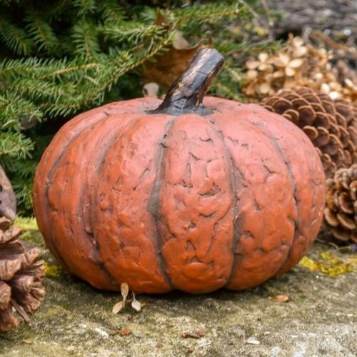 Primitive/Country Resin Medium Short Pumpkin Fall/Halloween Authorized dealer