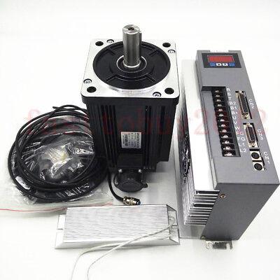 3.8kw 15nm Ac 220v Servo Motor Cnc Servo Driver Kit Nema52 Cwccw For Cnc Router