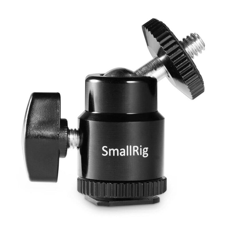 """SmallRig LCD Monitor Shoe Adapter Cold/Hot Shoe Mount with Additional 1/4"""" Screw"""