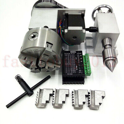 Cnc Rotary Axis Router Rotational Table 4th-axis Dividing Head 50-100mm Chuck