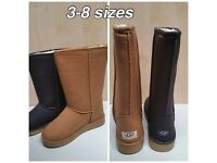 BRAND NEW CLASSIC UGG BOOTS SIZES 3,4,5,6,7,8 BLACK & TAN AVAILABLE