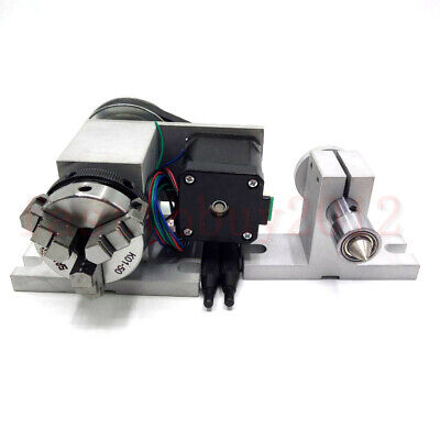 50mm Rotary Axis 4th-axis Cnc Router Rotational A-axis Tailstock For Milling