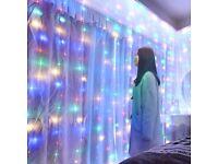 2 bundles Home decor LED Curtain String Lighting remote Wedding Decoration