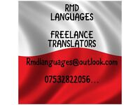 Profesjonalne usługi tłumacza