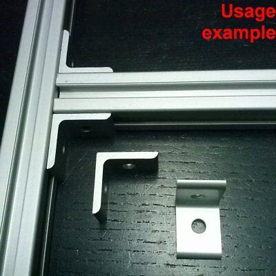 Aluminum T-slot 20x20 Profile 90 Deg Angle Join Corner Bracket 8-set