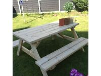 6seater heavy duty picnic bench
