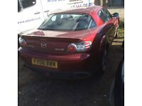 2006 MAZDA RX-8 EVOLVE RED 231PS SPARES OR REPAIR...