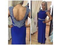 Blue beaded formal dress size 12