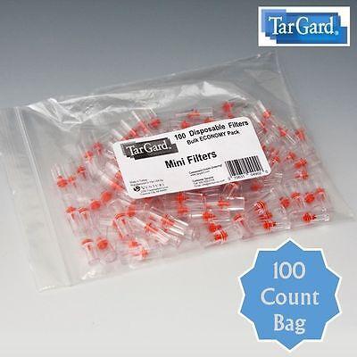 TarGard Mini Disposable Cigarette Filters - Bulk Bag of 100 Tar Gard Guard Block