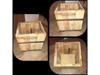 Handmade Garden Wooden Buckets