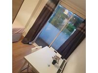 Double room for single with private balcony