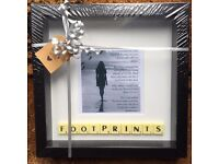 Black Framed Footprints in the Sand Scrabble Picture