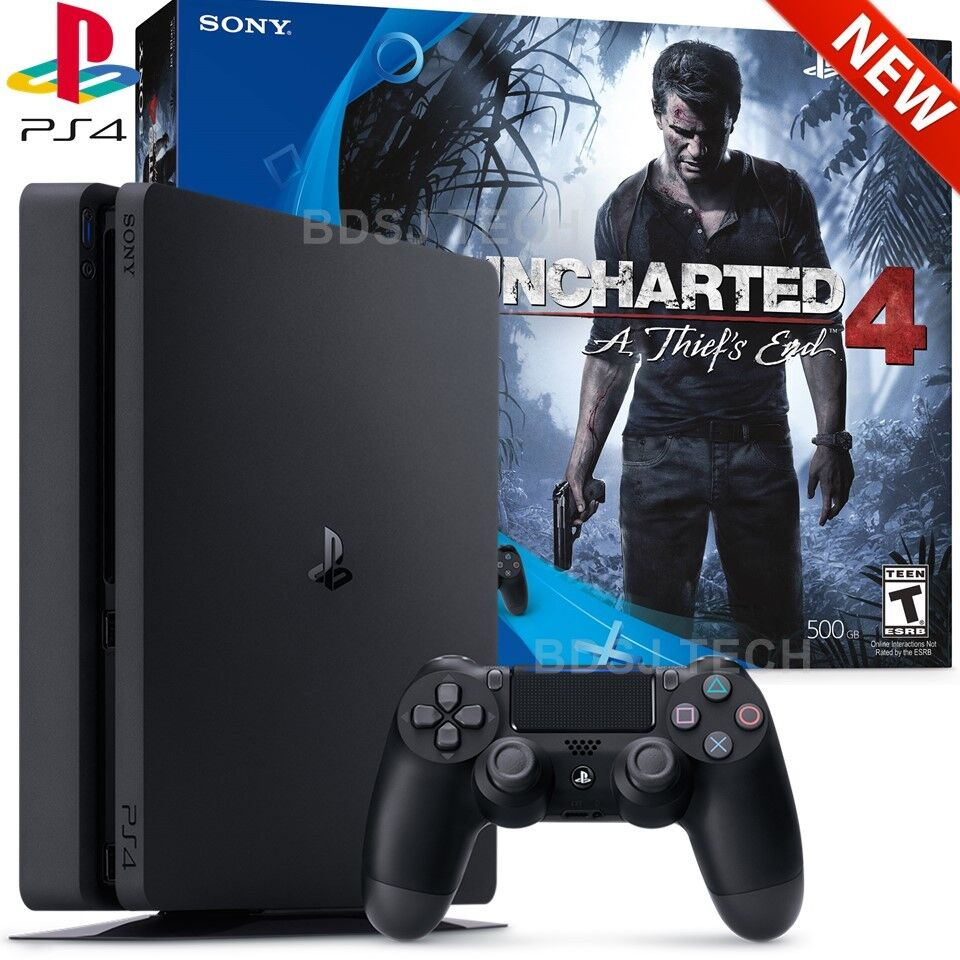 Playstation 4 Slim 500gb Uncharted 4 Bundle Ps4 Console Sony