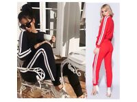 Women's red and black stripe loungewear tracksuits size 6-14 £25