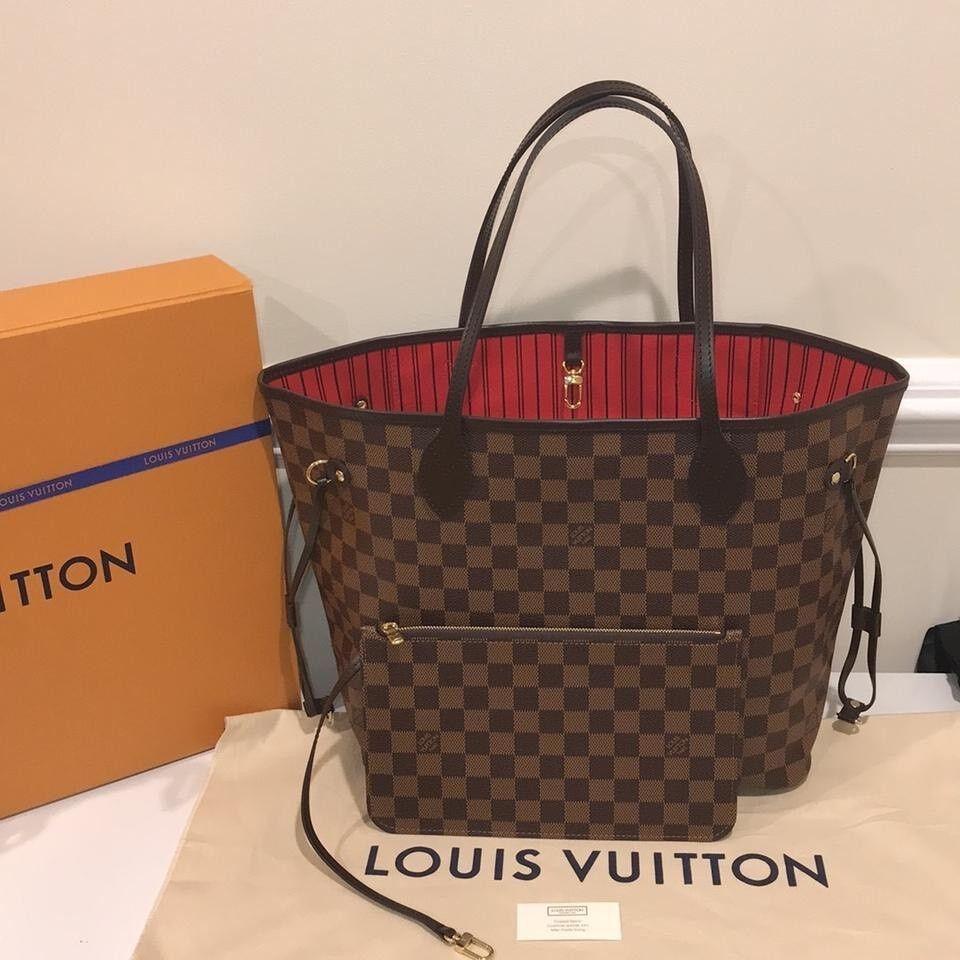 Louis Vuitton Neverfull Designer Womens Handbag Bag Travel Bag