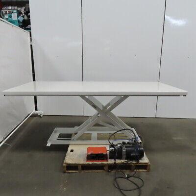 Southworth Lm1 1000lb Hydraulic Scissor Lift Table 96x42 3-36 Height 115v 1ph