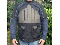 Jacket Frank Thomas textile motorcycle with all CE armour size XL