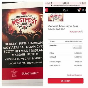 I heart radio west fest tickets