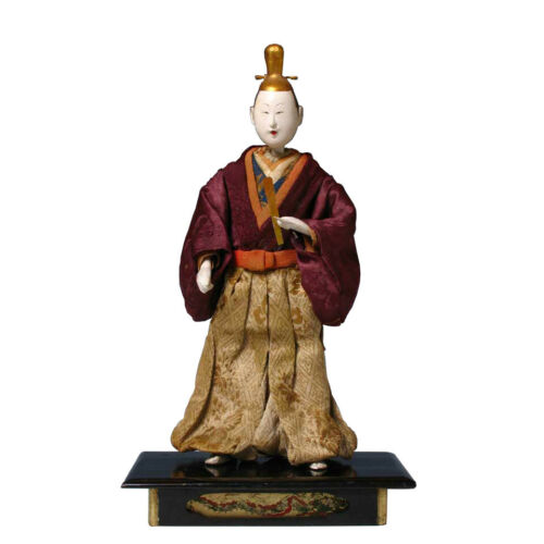 Early Japanese Standing Emperor Takeda Ningyo