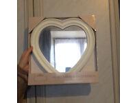 3 x Small Heart Dececorative Wall Mirrors