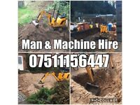 BMS Groundworkers Man and machine Mini Micro digger dumper hire Excavator driver Demo foundations