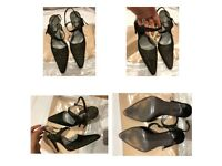 Magli Dark Green Goldish Shimmering High Heels Shoes 4.5uk