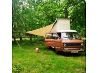 VW T25 Westfalia Camper - 1982 air cooled LHD campervan, sleeps 4, in great condition