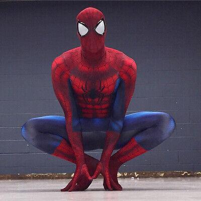 Amazing Spiderman Suit (HOT Amazing Spiderman 3D Print Zentai Cosplay Costume Suit Great For Lover)
