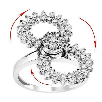 mothers day gift 925 silver Motion ring dancing ring spinner spinning - Spinning Gear Ring