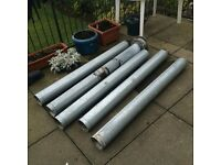 Metal Bestos BRITISH STANDARD Gas Pipe Chimney x5 including Cowl