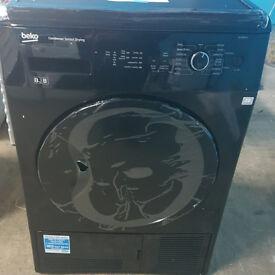 k452 black beko 8kg condenser sensor dryer comes with warranty can be delivered or collected