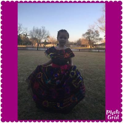 Mexican Chiapas dress girls, costume 5 de Mayo dance dress, party (5 De Mayo Party)
