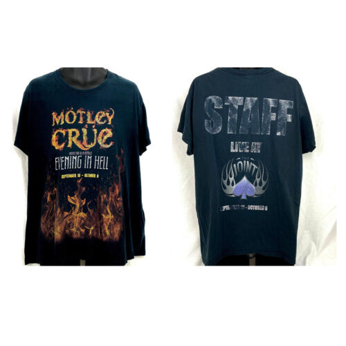 Motley Crue Evening In Hell At the Joint Las Vegas Concert STAFF T-shirt Size XL