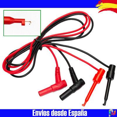 CABLE POLIMETRO MULTIMETRO MULTIMETER PINZAS DE PRECISION BANANA + CLIPS SMD