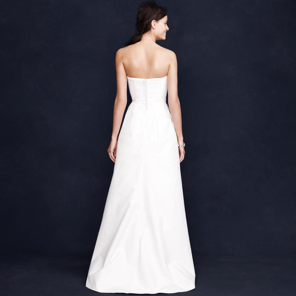 J CREW $695 Cotton Cady Miranda Gown Size 4 Ivory formal long ...