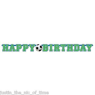 FOOTBALL THEME Boys Happy Birthday Party JOINTED LETTER BANNER - Boys Party Themes