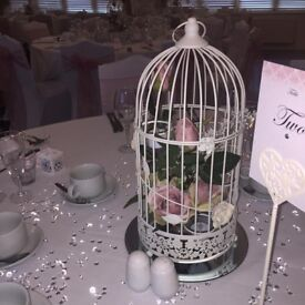5 x wedding bird cages centre piece