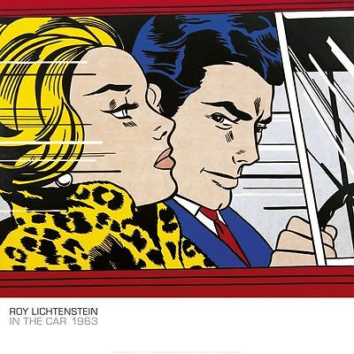In the Car, 1963 by Roy Lichtenstein Art Print Pop Poster 27.5x27.5