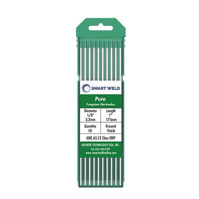 10-pk Green Wp Tungsten Electrode 18 For Tig Welding