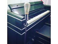Art Deco Green & Silver piano