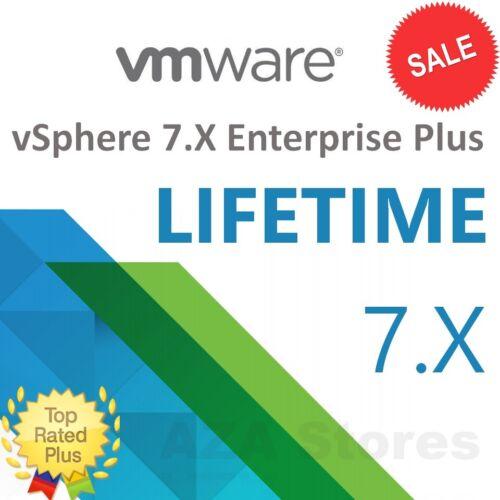 VMware ESXi vSphere 7.X Enterprise+ Unlimited CPU⭐LIFETIME KEY⭐♕Fast Delivery📩