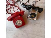Vintage retro telephones